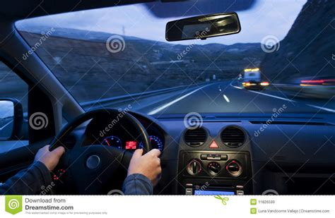 Inside Car View Royalty Free Stock Images