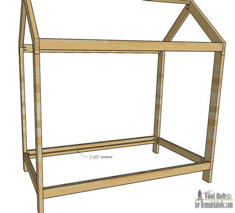 house build plans remodelaholic house frame bed building plan