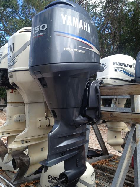 Yamaha Boat Motors Four Stroke by Used Yamaha 150 Hp Four Stroke Outboard Motor For Sale