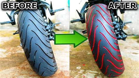 3 Easy Steps To Paint Any Motorcycle Tyre