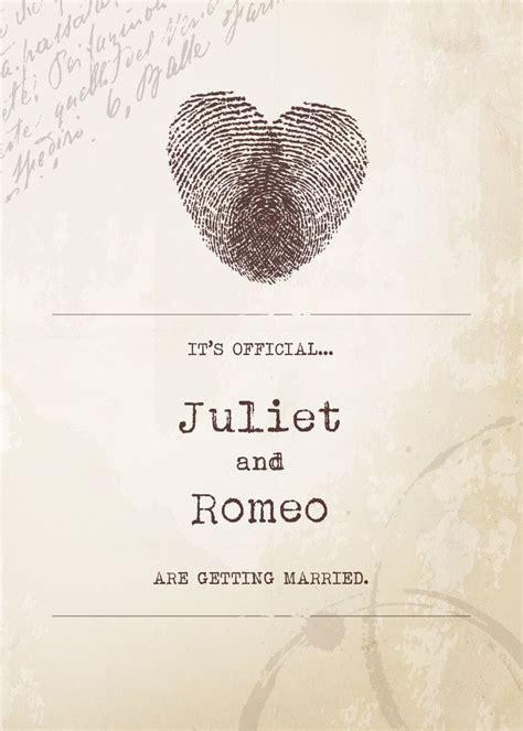 fingerprint heart  official diy wedding invitation