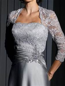 cameron blake evening dress with lace sleeves 111676 With silver wedding dresses 25th anniversary