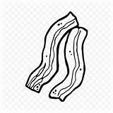 Bacon Pork Meat Drawing Breakfast Icon Getdrawings sketch template
