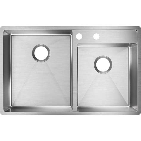 kitchen sinks stainless steel undermount bowl elkay crosstown water deck undermount stainless steel 33 9835