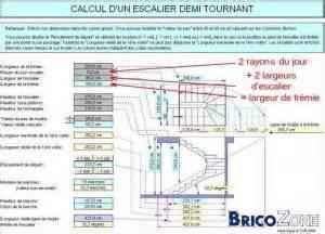 Calcul D Un Escalier Deux Quart Tournant by Dimensionnement D Un Escalier 2 Quarts Tournant