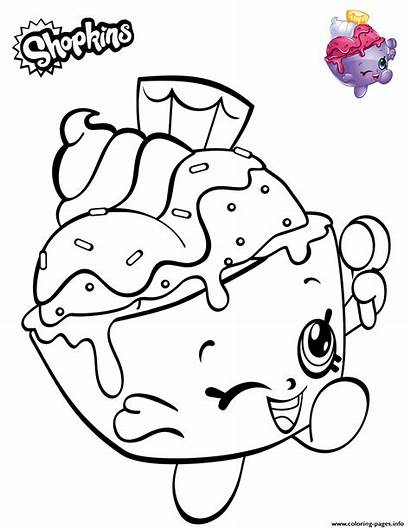 Shopkins Coloring Ice Cream Colouring Sheet Cup