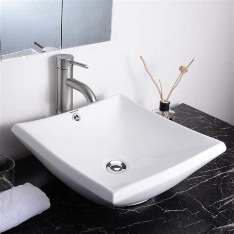 Aquaterior® Bathroom Porcelain Ceramic Vessel Sink Vanity