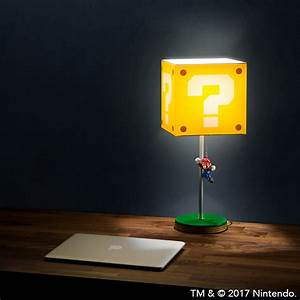 Jumping Super Mario Question Block Lamp ThinkGeek