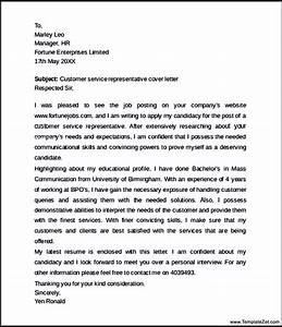 customer service representative cover letter templatezet With cover letter for client service representative