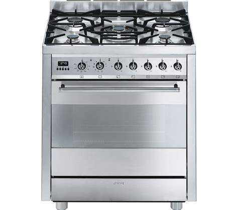 buy smeg c7gpx8 70 cm dual fuel range cooker stainless steel free delivery currys