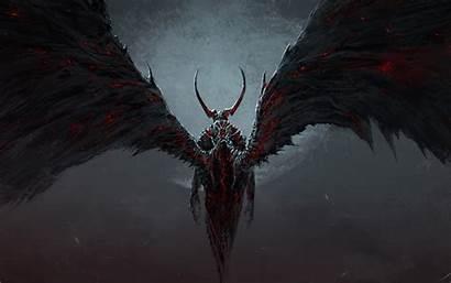 Wings Fire Demon Moon Wallpapers Horn