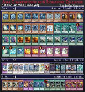 yu gi oh asia chionship 2016 singapore qualifier top 4 decks road of the king