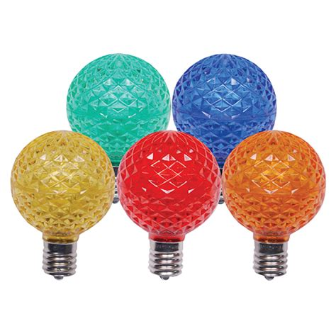 g50 christmas light bulbs g50 5 multi color dimmable led replacement bulbs 25 bulb
