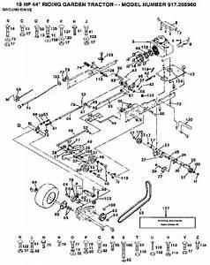 Craftsman Model 917255960 Lawn  Tractor Genuine Parts
