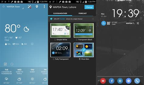 weather android widget clock widgets storm stylish simple joyofandroid