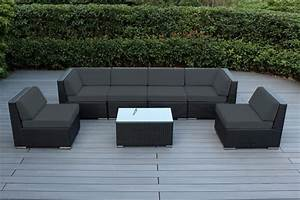 Ohana collection 7pc sunbrella outdoor sectional sofa set for Ohana outdoor sectional sofa