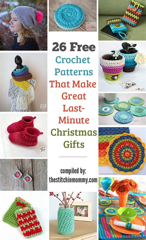 free crochet patterns easy christmas gifts 26 free crochet patterns that make great last minute gifts the stitchin