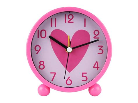 kids alarm clock hearts