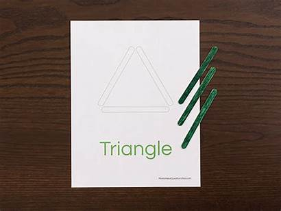Shapes Activity Triangle Toddlers Popsicle Preschoolers Stick