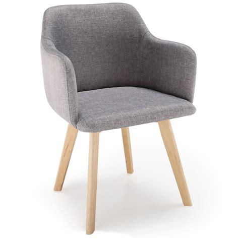 chaise scandinave pas cher lot de 2 chaises tissu dossier capitonné beige costel