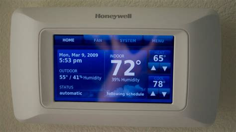 honeywell touchscreen thermostat  portable remote review