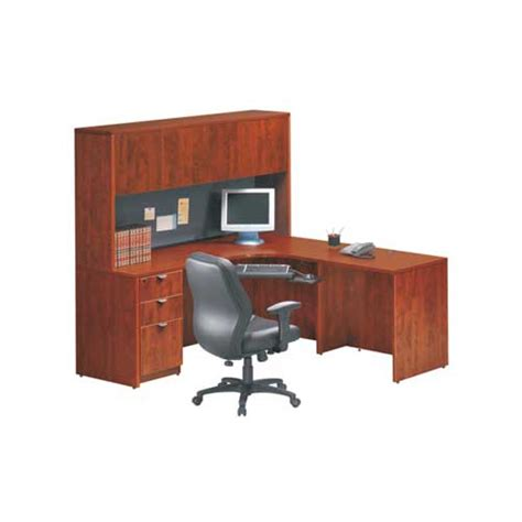 premiera laminate l desk with hutch 187 kentwood office