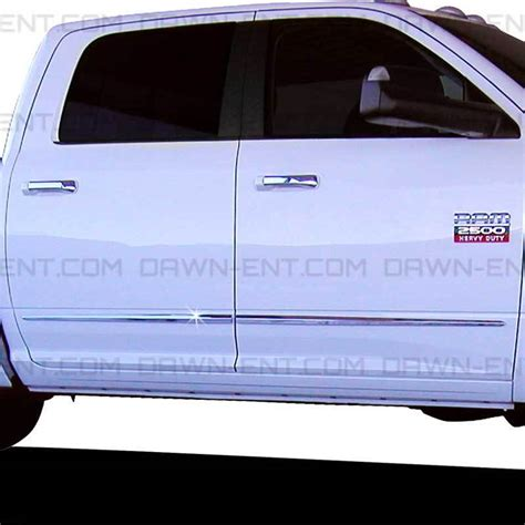 For: RAM 1500 CREW CAB; BODY SIDE Moldings Mouldings Trim