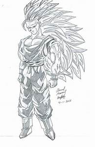 Drawing Of Goku Super Saiyan 3 By Ahmadmass On Deviantart