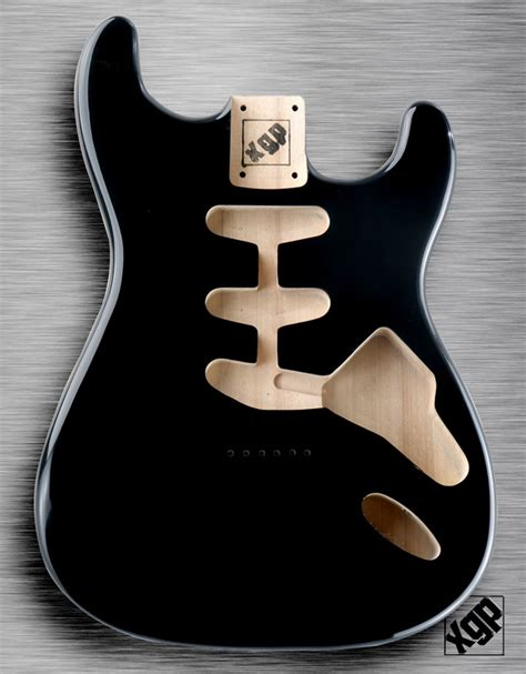 xgp professional strat body black hardtail