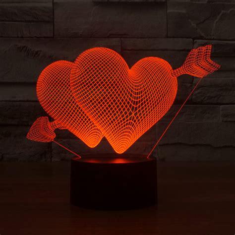 love heart arrow  led lamp