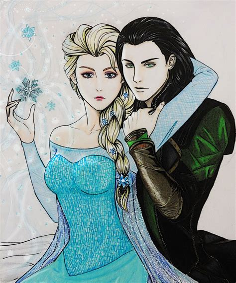 Loki X Elsa By Crossoverfanart On Deviantart