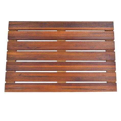 Solid Teak Wood Shower Spa Bath Mat For Bathroom Or