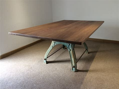 pedestal dining room table industrial based dining tables from recycled steel and
