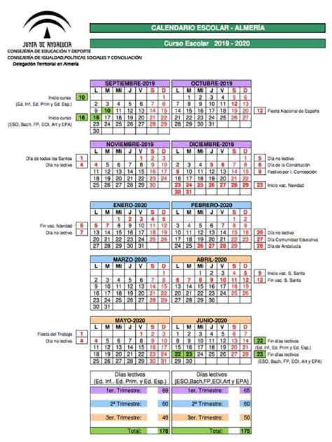 calendario escolar cadiz