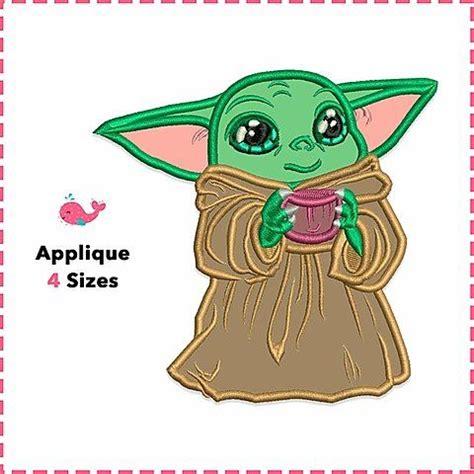 Baby Yoda Appliqué. Star Wars. Machine Embroidery Applique ...