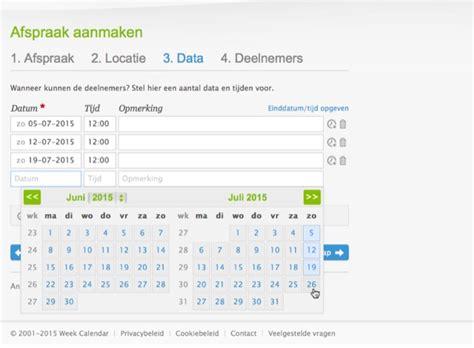 plan eenvoudig een afspraak met datumprikker icreate