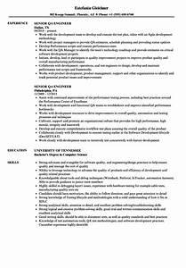 Senior Qa Engineer Resume Samples
