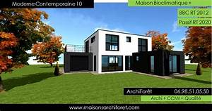 Maison contemporaine moderne et design d architecte for Lovely type de toiture maison 1 constructeur de maison maisons vivre plus constructeur