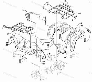 Arctic Cat Atv 1998 Oem Parts Diagram For Body Panel Assembly