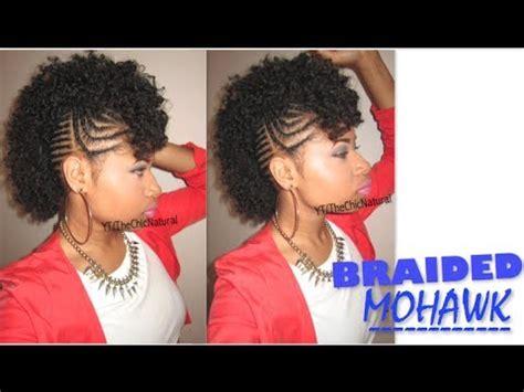 bawse braided mohawk natural hair tutorial youtube