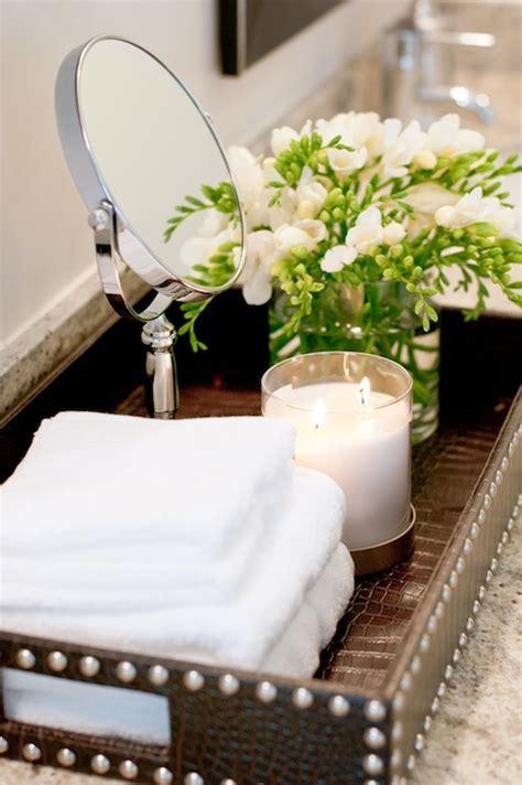 Bathroom Counter Decor Ideas by Bathroom Tray Contemporary Bathroom Winn Design