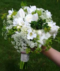Green and White Wedding Bouquets with Flowers
