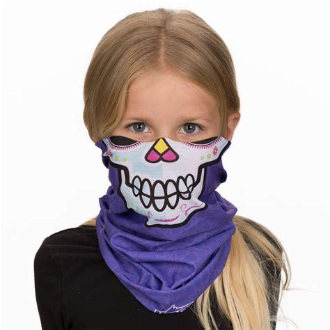 girls sugar skulls bandana facemask  kids