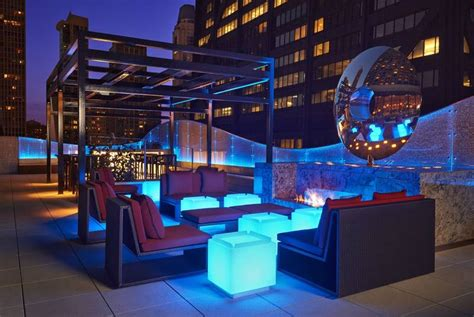 Chicago Fireplace by Dec Rooftop Lounge Bar Restaurant In 160 E Pearson St