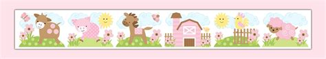 Animal Wallpaper Border - farm animals border