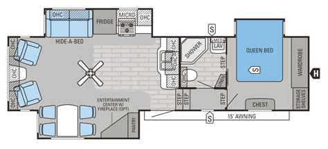 2015 Jayco 5th Wheel Floor Plans by 2015 Eagle Fifth Wheels Fifth Wheels Floorplans Prices