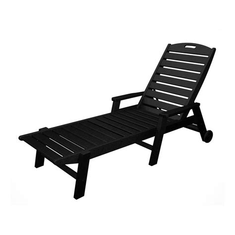 chaise longue pvc blanc shop polywood nautical black plastic patio chaise lounge