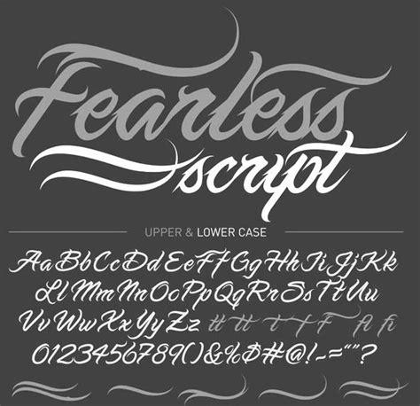 tattoo fonts fearless script tattoos pinterest