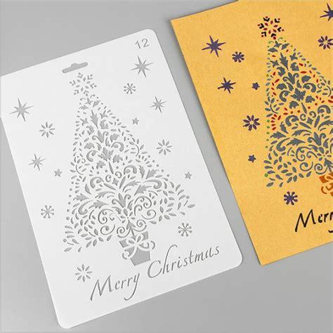 eno greeting christmas tree stencil template christams