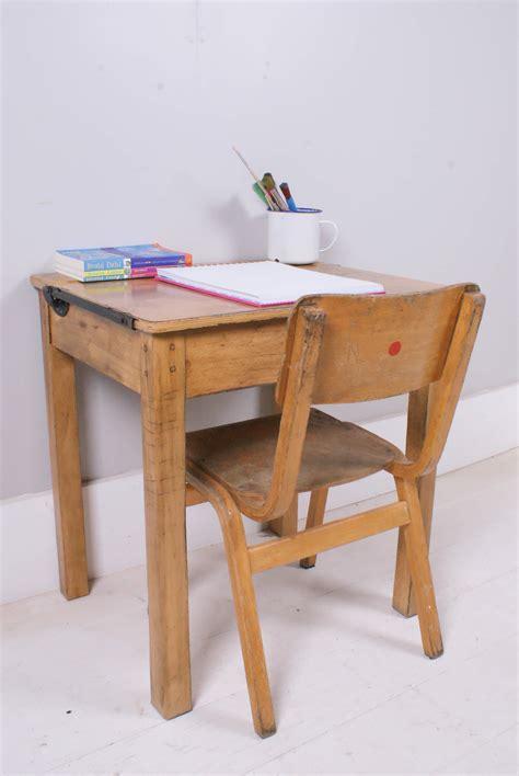 Children's Vintage School Desk With Chalkboard Lid And